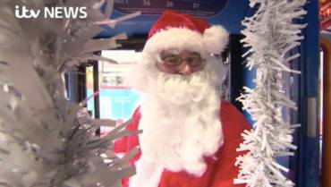 Festive treat on 'North Pole' bus in Sussex