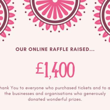 Raffle Raises £1,400